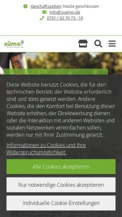 Vorschau der mobilen Webseite www.suemo.de, Süddeutsche Motoristen-Vereinigung e. G.