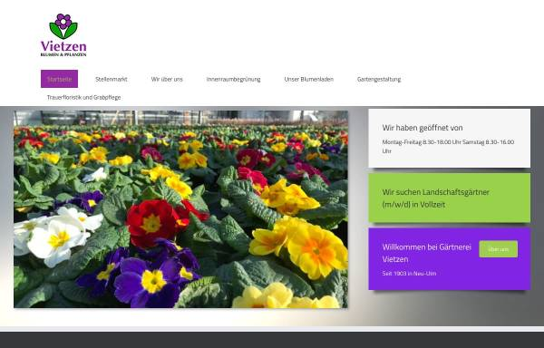 Vorschau von www.vietzen.de, Vietzen Blumen und Pflanzen