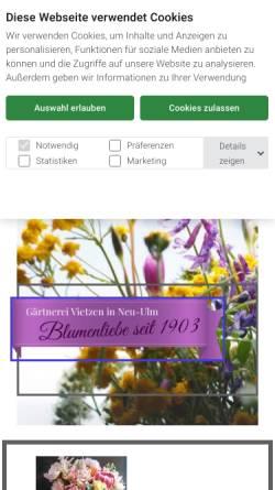 Vorschau der mobilen Webseite www.vietzen.de, Vietzen Blumen und Pflanzen