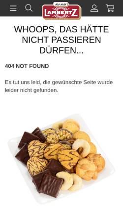 Vorschau der mobilen Webseite www.weiss-lebkuchen.de, Weiss, Max GmbH & Co. KG Lebkuchenfabrik