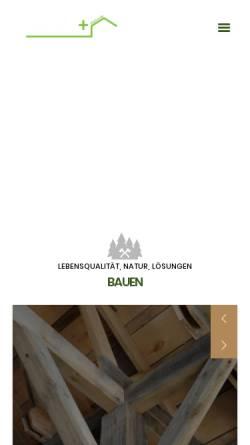 Vorschau der mobilen Webseite www.bplusf.de, zimmerei botzenhardt+frasch GbR
