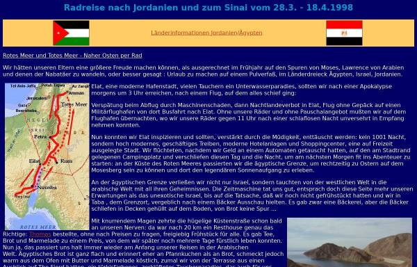 Vorschau von www.cramers-web.de, Rotes Meer und Totes Meer - Naher Osten per Rad [Jan Cramer]