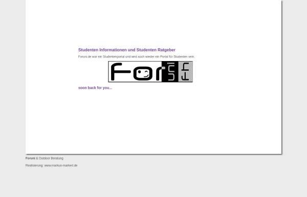 Vorschau von www.foruni.de, Konstanzer Studenten - Board