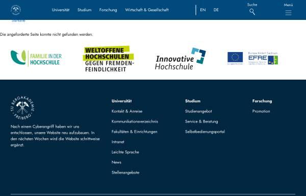 Vorschau von tu-freiberg.de, Lehr- und Besucherbergwerk