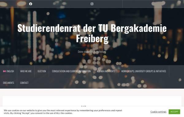Vorschau von www.stura.tu-freiberg.de, StudentenRat der TU Bergakademie Freiberg