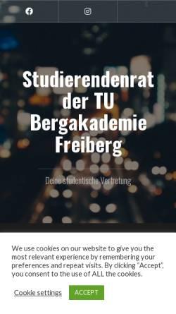 Vorschau der mobilen Webseite www.stura.tu-freiberg.de, StudentenRat der TU Bergakademie Freiberg