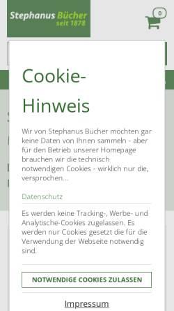 Vorschau der mobilen Webseite www.stephanus.de, Buchhandlung Heinrich Stephanus GmbH & Co.