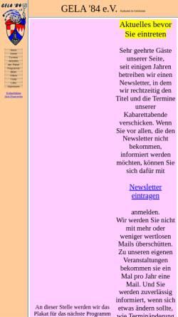 Vorschau der mobilen Webseite gela84.de, Gela '84 e.V.