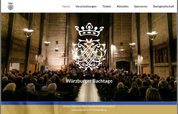 Vorschau von www.bachtage-wuerzburg.de, Johann-Sebastian-Bach-Gesellschaft Würzburg e.V.