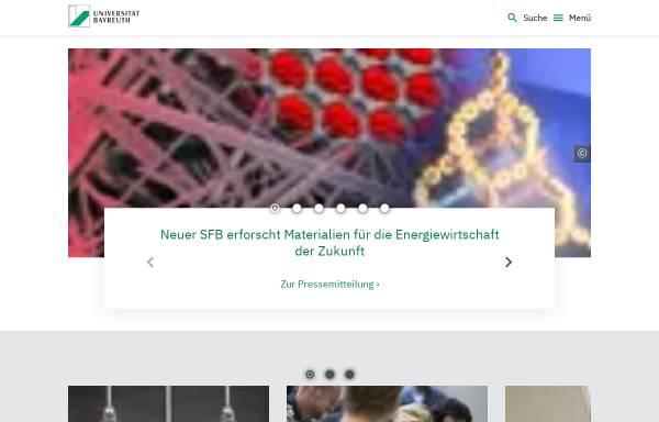 Vorschau von www.uni-bayreuth.de, Universität Bayreuth