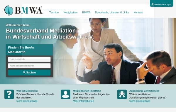 Vorschau von www.bmwa.de, BMWA - Bundesverband Mediation in Wirtschaft und Arbeitswelt e.V.