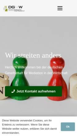 Vorschau der mobilen Webseite dgmw.de, DGMW - Deutsche Gesellschaft für Mediation in der Wirtschaft e.V.
