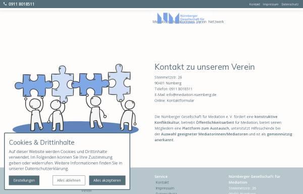 Vorschau von mediation-nuernberg.de, Nürnberger Gesellschaft für Mediation e.V.