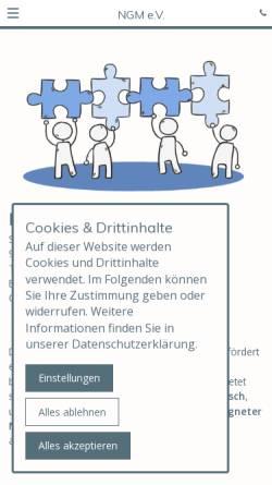 Vorschau der mobilen Webseite mediation-nuernberg.de, Nürnberger Gesellschaft für Mediation e.V.