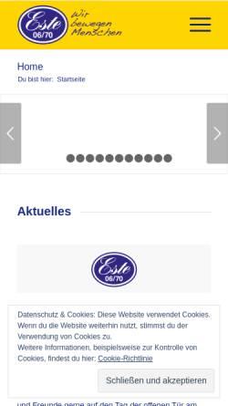 Vorschau der mobilen Webseite www.sveste0670.de, Spielvereinigung Este 06/70