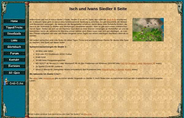 Vorschau von jh-isch.de, Isch & Iwans Siedler II Seite
