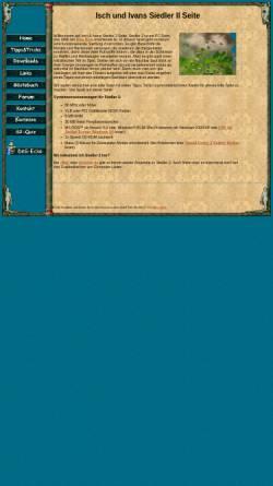 Vorschau der mobilen Webseite jh-isch.de, Isch & Iwans Siedler II Seite