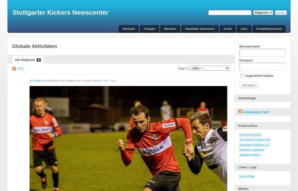 Vorschau von www.kickersnews.de, Blaue Götter