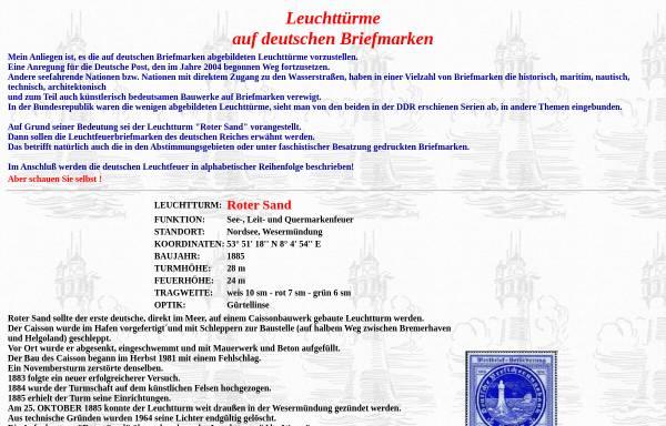 Vorschau von www.bergmann-deutschland.de, Leuchttürme auf deutschen Briefmarken