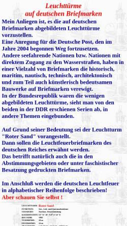 Vorschau der mobilen Webseite www.bergmann-deutschland.de, Leuchttürme auf deutschen Briefmarken
