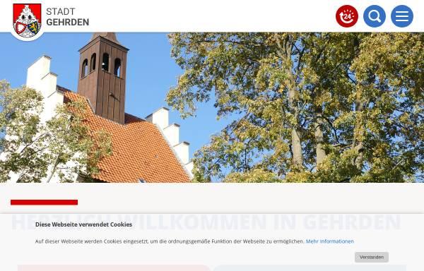 Vorschau von www.gehrden.de, Stadt Gehrden