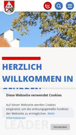 Vorschau der mobilen Webseite www.gehrden.de, Stadt Gehrden