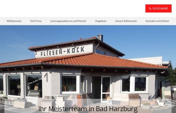 Vorschau von www.fliesenkock.de, Fliesen-Kock GmbH & Co. KG