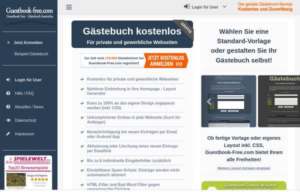 Vorschau von www.guestbook-free.com, Guestbook-Free.com