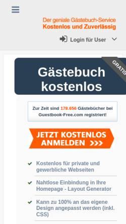 Vorschau der mobilen Webseite www.guestbook-free.com, Guestbook-Free.com