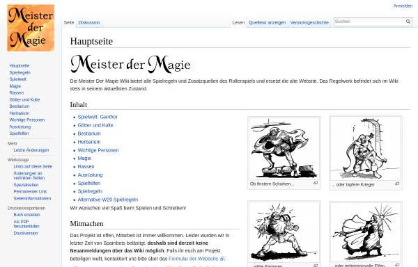 Vorschau von www.meisterdermagie.de, Meister der Magie