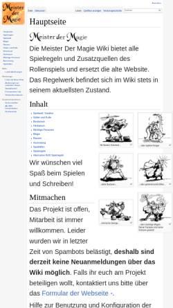Vorschau der mobilen Webseite www.meisterdermagie.de, Meister der Magie