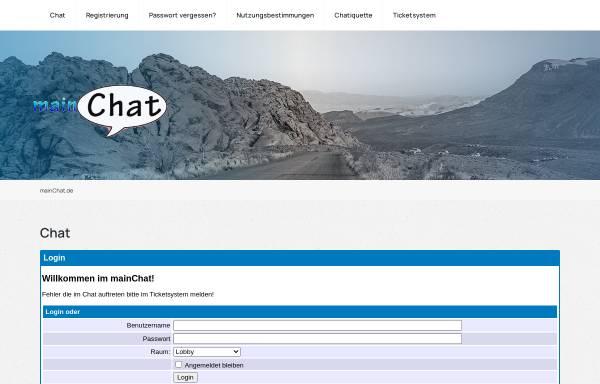 Vorschau von www.mainchat.de, mainChat