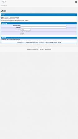 Vorschau der mobilen Webseite www.mainchat.de, mainChat