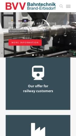 Vorschau der mobilen Webseite www.bt-be.de, Bahntechnik Brand-Erbisdorf GmbH