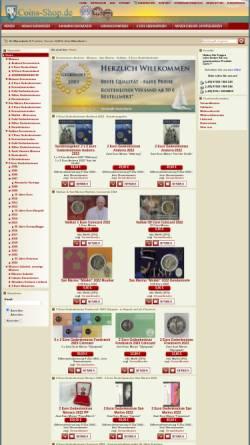 Vorschau der mobilen Webseite www.coins-shop.de, Münzenhandlung Weber, Thomas Weber