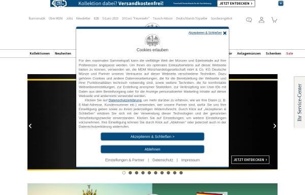 Vorschau von www.mdm.de, MDM Münzhandelsgesellschaft mbH & Co. KG