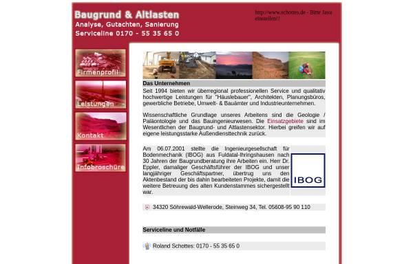 Vorschau von www.schottes.de, Schottes Umwelt Geologie