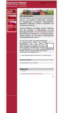 Vorschau der mobilen Webseite www.schottes.de, Schottes Umwelt Geologie