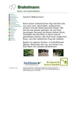 Vorschau der mobilen Webseite www.brakelmann.de, Brakelmann Garten- und Landschaftsbau