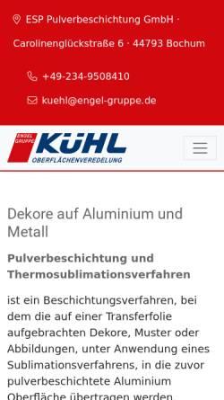 Vorschau der mobilen Webseite www.decoral.de, Farbe + Design GmbH