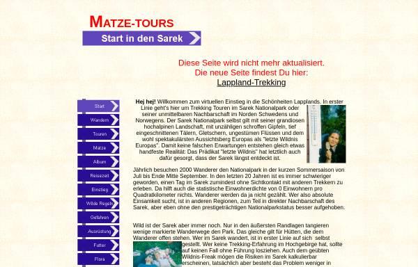 Vorschau von www.matze-tours.de, Matze-Tours - Wandern in Lappland