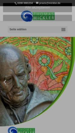 Vorschau der mobilen Webseite www.mickler.de, Homöopathie - Überblick und Einführung