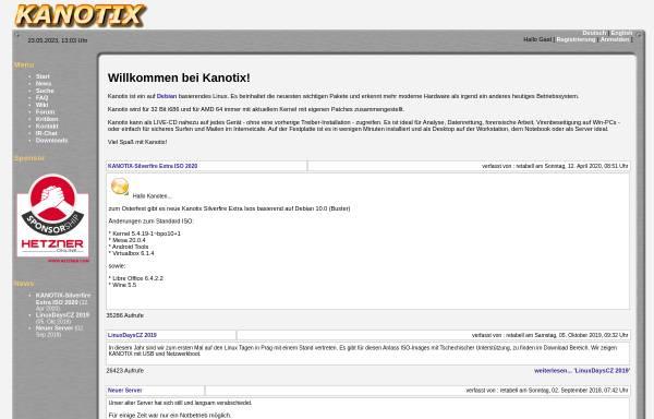 Vorschau von kanotix.com, Kanotix