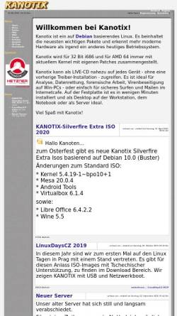 Vorschau der mobilen Webseite kanotix.com, Kanotix