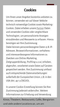 Vorschau der mobilen Webseite www.darmstadtnacht.de, Darmstadtnacht