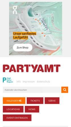 Vorschau der mobilen Webseite www.partyamt.de, Partyamt Darmstadt