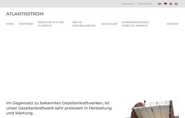 Vorschau von www.atlantisstrom.de, Atlantisstrom - Regenerative Energie