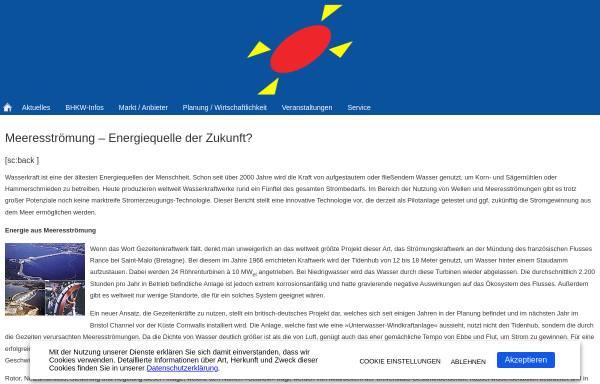 Vorschau von www.bhkw-infozentrum.de, Meeresströmung - Energiequelle der Zukunft?