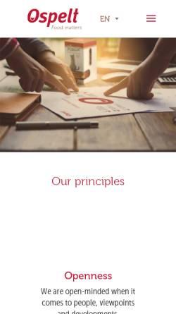 Vorschau der mobilen Webseite www.ospelt.com, Herbert Ospelt Anstalt