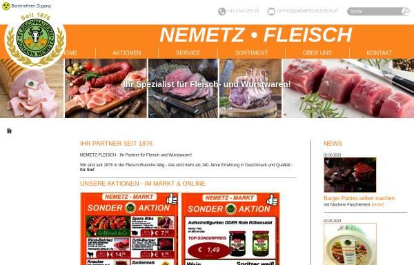 Vorschau von www.nemetz-fleisch.at, Nemetz Fleisch Handels GesmbH